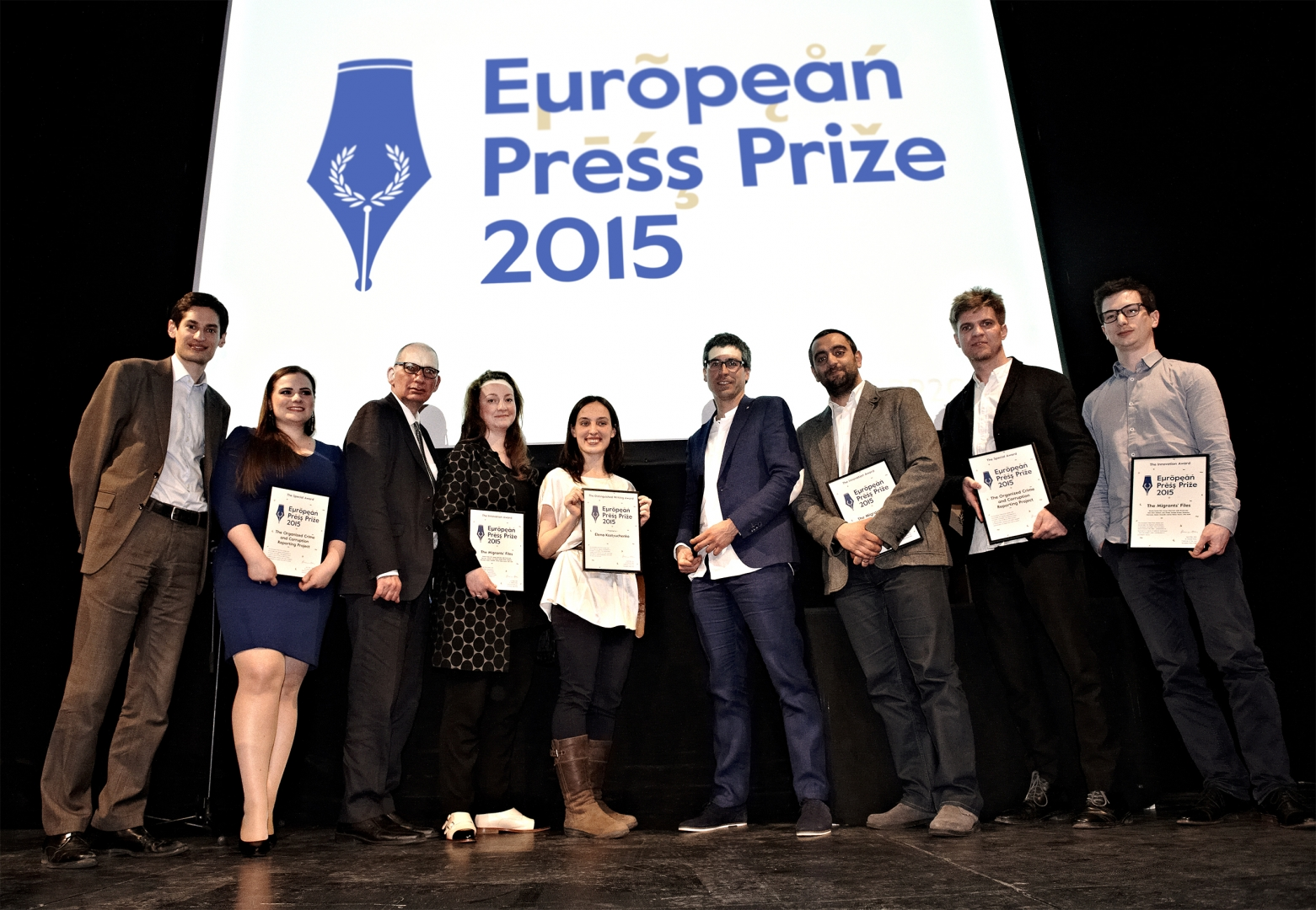 European Press Prize ceremony